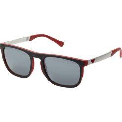 Emporio Armani Okulary przeciwsłoneczne red. Czerwone okulary przeciwsłoneczne męskie wayfarery marki Boss, z tworzywa sztucznego. Za 609,00 zł.