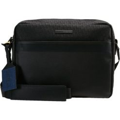 Trussardi Jeans BOCCONI MESSENGER BAG LOGO Aktówka black. Czarne aktówki męskie Trussardi Jeans, z jeansu. Za 589,00 zł.