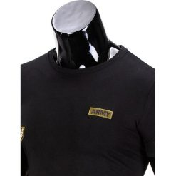 T-SHIRT MĘSKI Z NADRUKIEM S841 - CZARNY. Czarne t-shirty męskie z nadrukiem Ombre Clothing, m. Za 29,00 zł.