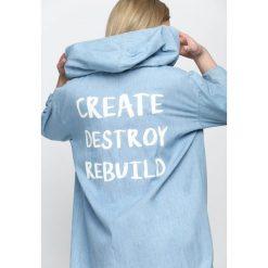 Bluzy damskie: Jasnoniebieska Bluza Rebuild