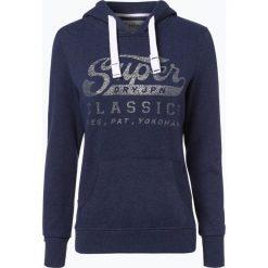 Bluzy damskie: Superdry – Damska bluza nierozpinana, niebieski