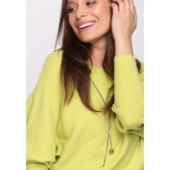 Limonkowy Sweter Next Breath. Pomarańczowe swetry klasyczne damskie marki Born2be, l, z okrągłym kołnierzem. Za 69,99 zł.