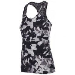 Odzież sportowa damska: 4F Damska Koszulka Sportowa H4Z17 tsdf001 Allover Czarno-Biały Xs