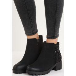 Czarne Matowe Botki Abstract Artist. Czarne buty zimowe damskie Born2be, na niskim obcasie. Za 89,99 zł.