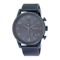 """Zegarek """"1513538"""" w kolorze granatowym. Niebieskie zegarki męskie Hugo Boss, Festina & Joop!, ze stali. W wyprzedaży za 1299,95 zł."""