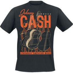 T-shirty męskie: Johnny Cash Legendary American Music T-Shirt czarny