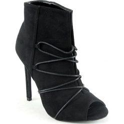 Buty ślubne damskie: Otwarte czółenka w kolorze czarnym