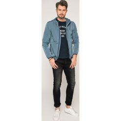 Tommy Jeans - Kurtka. Szare kurtki męskie jeansowe marki Tommy Jeans, m, z kapturem. W wyprzedaży za 359,90 zł.