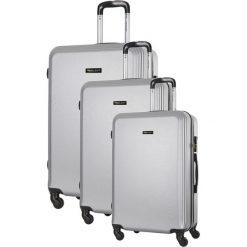 Zestaw walizek w kolorze srebrnym - 3 szt. Szare walizki marki Travel One, z materiału. W wyprzedaży za 499,95 zł.