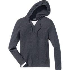 Swetry męskie: Sweter z kapturem Slim Fit bonprix ciemnoniebieski melanż
