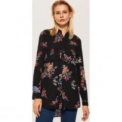 Koszula w kwiaty - Czarny. Czarne koszule wiązane damskie House, l, w kwiaty. Za 79,99 zł.