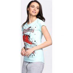 Bluzki asymetryczne: Miętowa Bluzka My Style