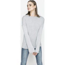 Mustang - Sweter. Niebieskie swetry klasyczne damskie marki Mustang, z aplikacjami, z bawełny. W wyprzedaży za 119,90 zł.