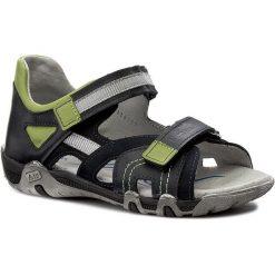 Sandały RENBUT - 31-4282 Granat. Niebieskie sandały męskie skórzane marki RenBut. W wyprzedaży za 149,00 zł.