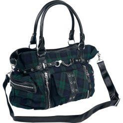 Banned Alternative Green Tartan Torebka - Handbag czarny/niebieski/zielony. Czarne torebki klasyczne damskie Banned Alternative, z aplikacjami, z aplikacjami. Za 184,90 zł.