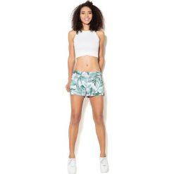 Spodnie damskie: Colour Pleasure Spodnie damskie CP-020 278 biało-zielone r. 3XL/4XL