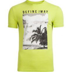 T-shirt męski TSM607 - soczysta zieleń - Outhorn. Zielone t-shirty męskie Outhorn, na lato, m, z bawełny. Za 39,99 zł.