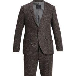 Shelby & Sons MELROSE SUIT SLIM FIT Garnitur brown. Brązowe garnitury Shelby & Sons, z jedwabiu. Za 839,00 zł.