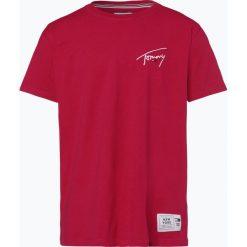 Tommy Jeans - T-shirt męski, czerwony. Czerwone t-shirty męskie z nadrukiem Tommy Jeans, l, z jeansu. Za 179,95 zł.
