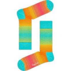 Happy Socks - Skarpetki Sunrise. Brązowe skarpetki damskie Happy Socks, z bawełny. W wyprzedaży za 29,90 zł.