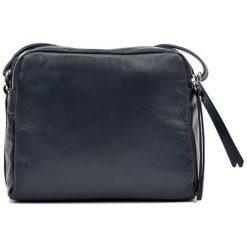 Torebki klasyczne damskie: Skórzana torebka w kolorze granatowym – (S)20 x (W)22 x (G)9 cm