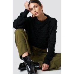 NA-KD Sweter Bubble - Black. Czarne swetry oversize damskie NA-KD, z dzianiny. Za 161,95 zł.