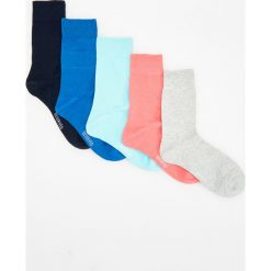 Kapcie męskie: 5 pack kolorowych skapetek – Niebieski
