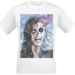 Alice Cooper Trash Half Skull T-Shirt biały. Białe t-shirty męskie Alice Cooper, l. Za 74,90 zł.