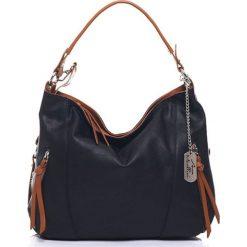 Torebki klasyczne damskie: Skórzana torebka w kolorze czarnym – 32 x 25 x 12 cm