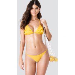 J&K Swim X NA-KD Góra bikini z falbankami - Yellow. Zielone bikini marki J&K Swim x NA-KD. Za 60,95 zł.