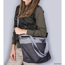Torba Simple duo gray. Szare torebki klasyczne damskie Pakamera, w paski, z tkaniny. Za 129,00 zł.