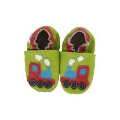 BaBice Buciki do raczkowania Pociąg kolor zielony. Zielone buciki niemowlęce BABICE, ze skóry. Za 69,00 zł.