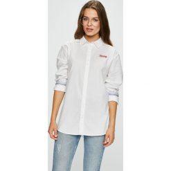 Tommy Jeans - Koszula. Szare koszule jeansowe damskie Tommy Jeans, l, klasyczne, z klasycznym kołnierzykiem, z długim rękawem. W wyprzedaży za 239,90 zł.
