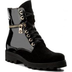 Botki KAZAR - Jade 30584-L4-00 Czarny. Czarne buty zimowe damskie Kazar, z lakierowanej skóry, na wysokim obcasie, na zamek. W wyprzedaży za 409,00 zł.