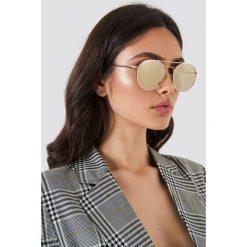 Okulary przeciwsłoneczne damskie: Le Specs Okulary przeciwsłoneczne Revolution – Gold