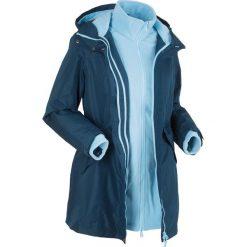 Płaszcze damskie pastelowe: Płaszcz outdoorowy 3 w 1 bonprix ciemnoniebiesko-jasnoniebieski