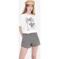 "Koszulka ""Venice Bay"". Szare t-shirty damskie Pull&Bear. Za 41,90 zł."
