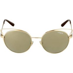 VOGUE Eyewear Okulary przeciwsłoneczne gold. Żółte okulary przeciwsłoneczne damskie lenonki VOGUE Eyewear. Za 509,00 zł.