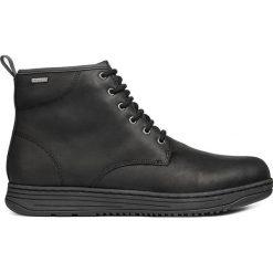 Geox - Buty. Czarne buty skate męskie Geox, z materiału, na sznurówki. Za 739,90 zł.