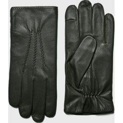 Tommy Hilfiger - Rękawiczki skórzane. Szare rękawiczki męskie marki TOMMY HILFIGER, z elastanu. Za 299,90 zł.
