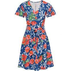 Sukienki: Sukienka w kwiaty bonprix niebiesko-czerwony w kwiaty