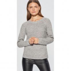 Melanżowy sweter - Czarny. Białe swetry klasyczne damskie marki Reserved, l. Za 69,99 zł.