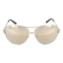 """Okulary przeciwsłoneczne damskie aviatory: Okulary przeciwsłoneczne """"GU2015H"""" w kolorze srebrno-brązowym"""