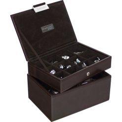 Zegarki męskie: Pudełko na spinki i zegarki Stackers brązowe