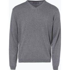 Finshley & Harding - Sweter męski z kaszmiru i jedwabiu, szary. Czarne swetry klasyczne męskie marki Finshley & Harding, w kratkę. Za 299,95 zł.