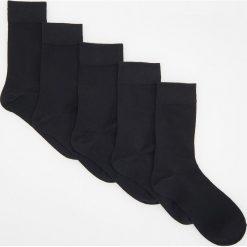 Kapcie męskie: 5 pack długich skarpetek – Czarny