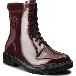 Kalosze ARMANI JEANS - 925118 7A678 02692 Burgundy. Czarne buty zimowe damskie marki Armani Jeans, z jeansu. W wyprzedaży za 309,00 zł.