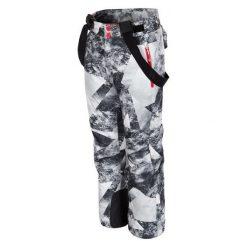 4F Chłopięce Spodnie Narciarskie J4Z17 jspmn401 Allover Czarno-Biały 128. Białe chinosy chłopięce 4f, z materiału. W wyprzedaży za 139,00 zł.