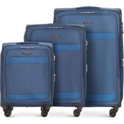 Zestaw walizek 56-3S-58S-90. Niebieskie walizki marki Wittchen. Za 1066,71 zł.