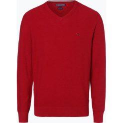 Swetry klasyczne męskie: Tommy Hilfiger – Sweter męski, czerwony